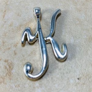Jewelry - Sterling Silver K Necklace Slider Charm